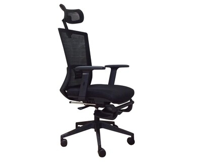 Ofix Korean F24 Office Chair with Footrest (Black)
