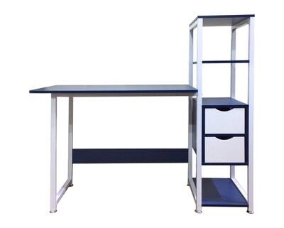 Ofix Desk 10 (Light Top, Black, Blue Top)