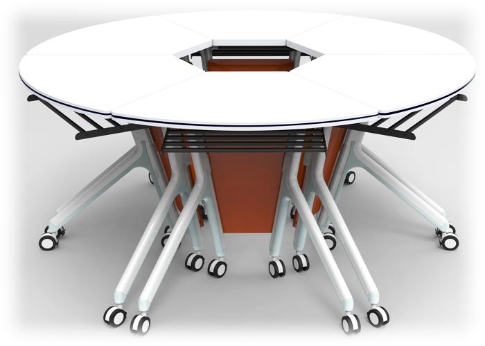Ofix 106-OF 6pcs Fan shape Training Desk