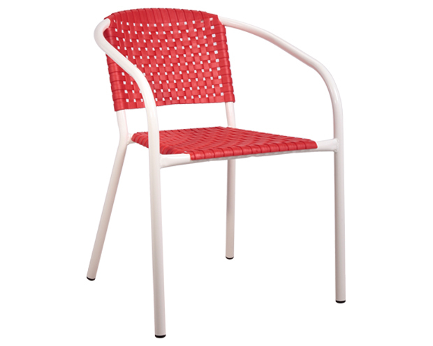 Ofix-3 Stacking Chair (Red, Black)