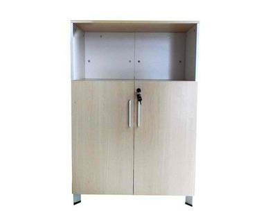 (Sale Item) Ofix 221-OF / Low Cabinet / 2 Doors (Teakwood) (No Stand/No key) (Ndomingo Branch Display)