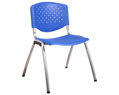 (Sale) Ofix-4 Stacking Chair (Blue) (Light Scratches & Stains)