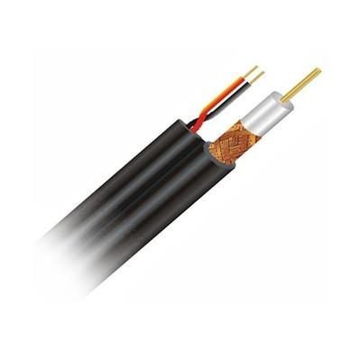 Qube RG59(Siamese) WITH POWER CABLE (PER METER) 100% PURE COPPER Colors: Black, White