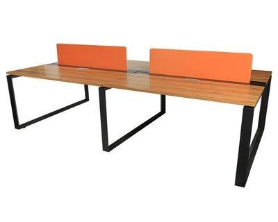 (Sale) Ofix 215-OF / 4 Seater's Workstation Desk (Orange)