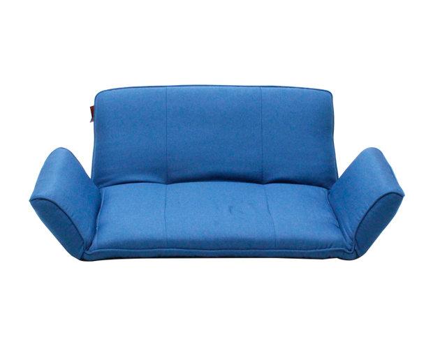 Flotti Japanese-2 Floor Sofa (Blue, Chocolate)