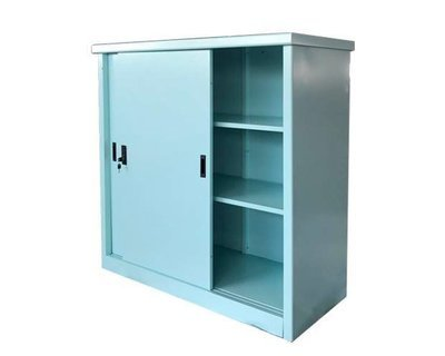 (Sale Item) Ofix Adjustable Shelves Steel Cabinet (With light Scratches) (Blue-No Key, Brown-w/ Key)