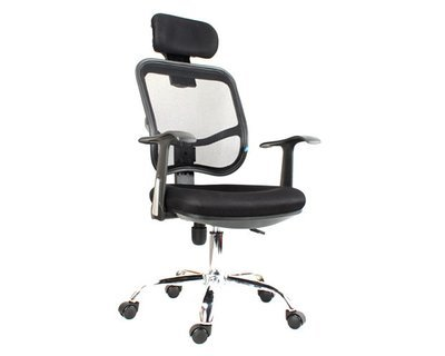 Ofix Deluxe-3 High Back Mesh Chair (Black, Pink)