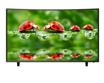 "Qube Curved 55"" 4K UHD Digital Smart TV"