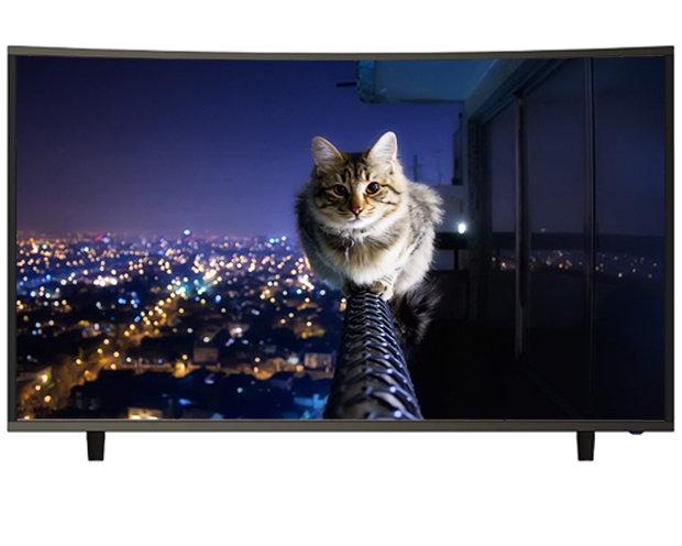 "Qube Curved 65"" 4K UHD Digital Smart TV"