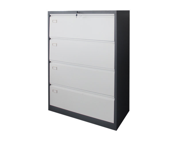 Ofix Lateral Steel Filing 4 Drawer Cabinet