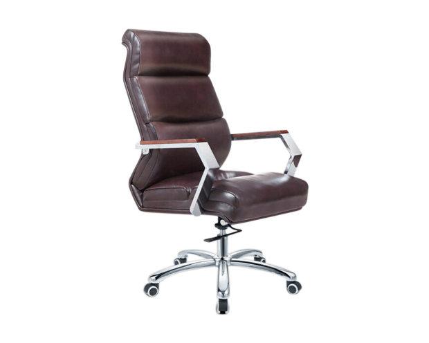 Ofix Premium-1 High Back PU Chair (Brown, Black)