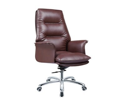 (Sale Item) Ofix Premium-2 High Back PU Chair (Brown) (Available from Display/ Scratches)