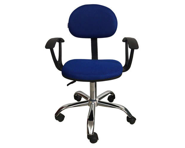 Ofix Deluxe-17A with Arm Rest, Mid Back Mesh Chair (Blue)