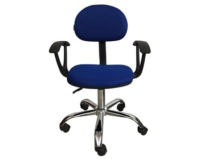 (Sale) Ofix Deluxe-17A with Arm Rest, Mid Back Mesh Chair (Blue) (Light Scratches/Dents)