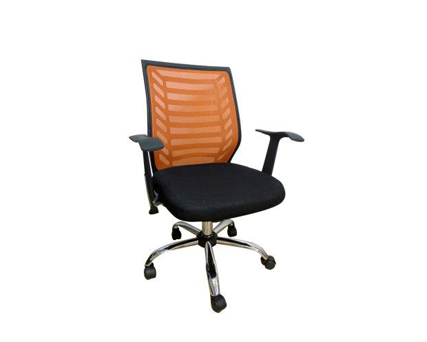 Ofix Deluxe-7 Mid Back Mesh Chair (Orange)