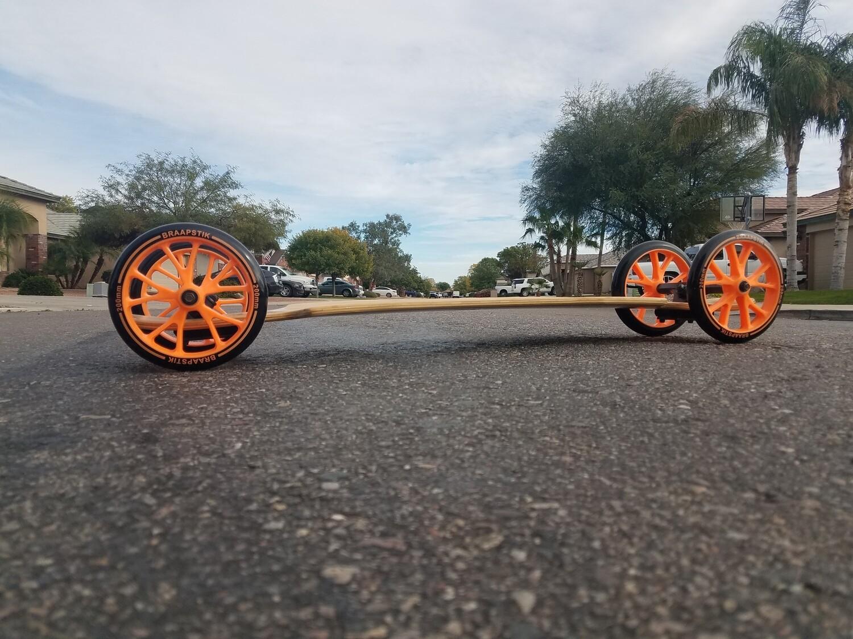 Big Wheel Bamboo Fiberglass Camber Longboard