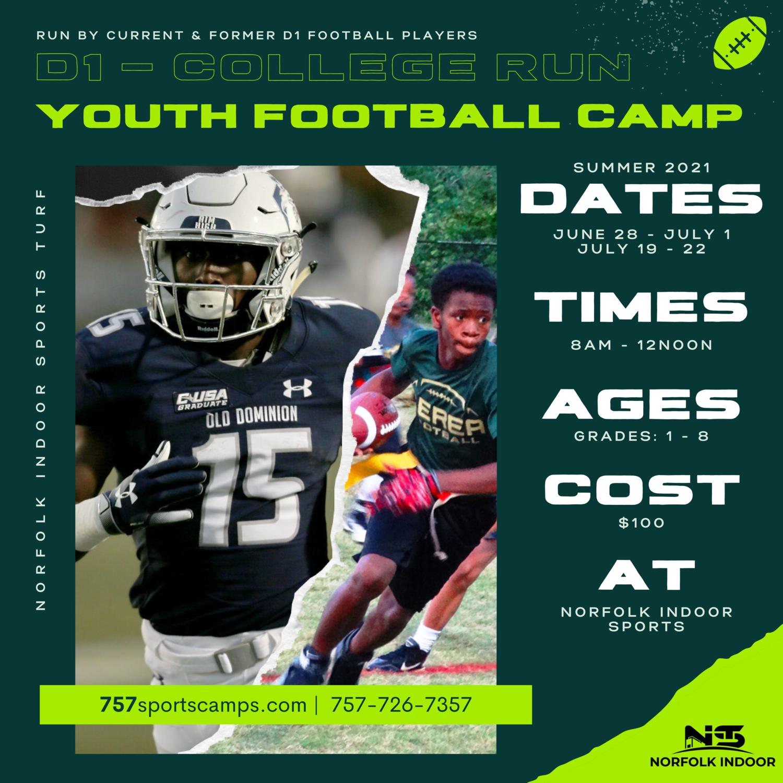 SUMMER 2021 - YOUTH FOOTBALL CAMP