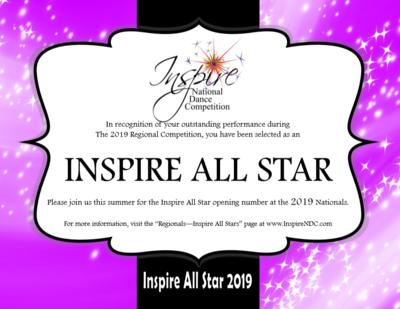 Registration Fee Inspire All Star
