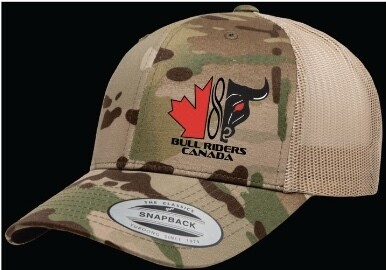 FLEXFIT Retro Trucker Cap - BRC Logo Embroidered - Camo or Black Available