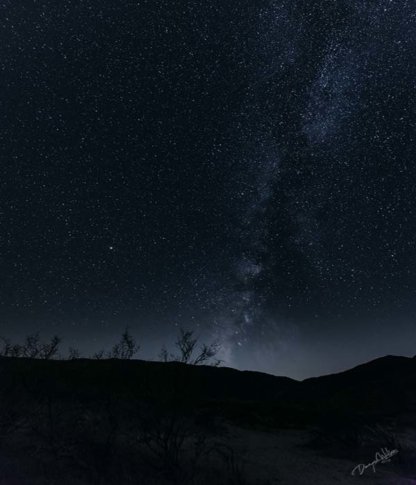 Milky Way above Anza Borrego  --  Starting at