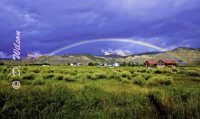 Rainbow Over the Farm, Utah