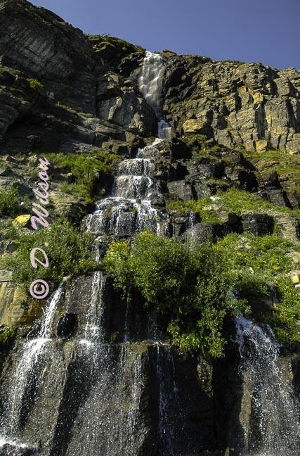 Weeping Wall-Glacier Nat'l Park, Mt  --  starting at