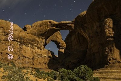Double Arch -  Arches Nat'l Park, UT  --  Starting at