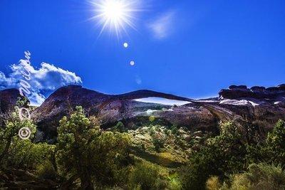 Landscape Arch - Arches Nat'l Park, Utah  --  starting at