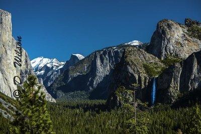 Yosemite Valley with Bridal Falls, Ca