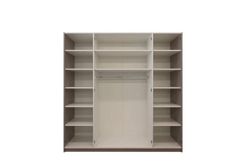 Schrank 2-türig, inkl. Kleiderstangen, 12 Tablare