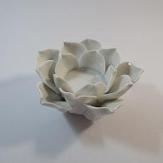 Teelichthalter Porzelanblüte