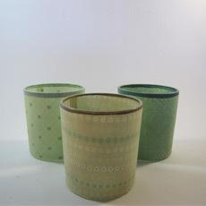 Teelichtgläser klein 3-Set grün