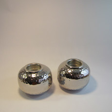 Teelichthalterer Silber Set