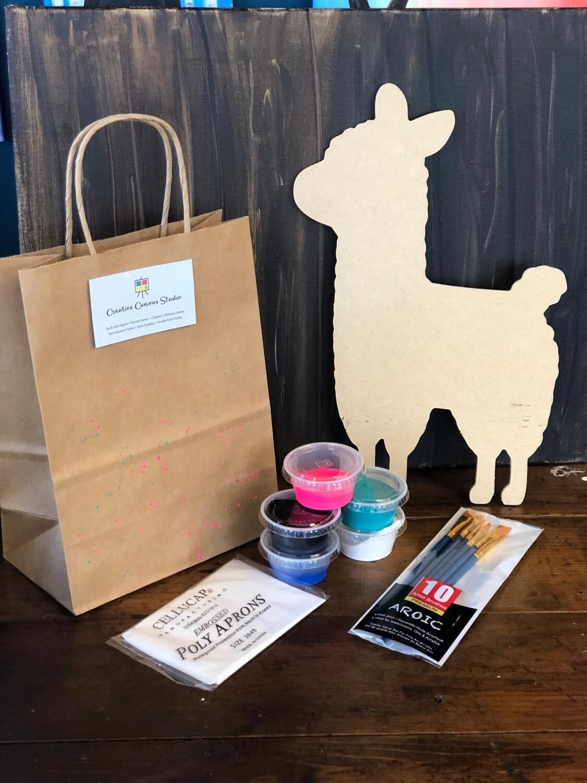 "14"" Llama Cutout Take Home Kit"