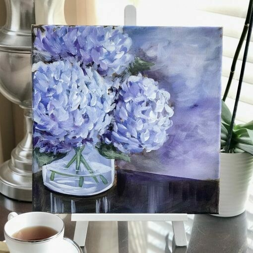 Hydrangea Adult Paint Kit with Video Link - Art Rave