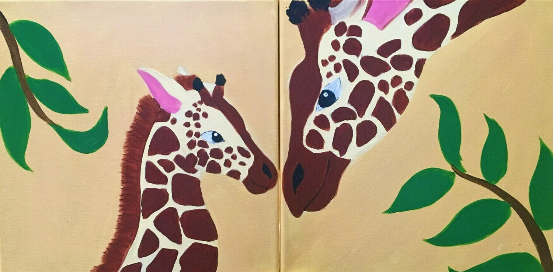 Mommy & Me Art Kit - Giraffes
