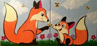Mommy & Me Art Kit - Foxes