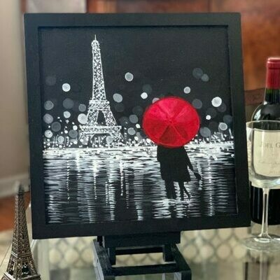 Paris Nights Adult Paint Kit with Video Link - Art Rave