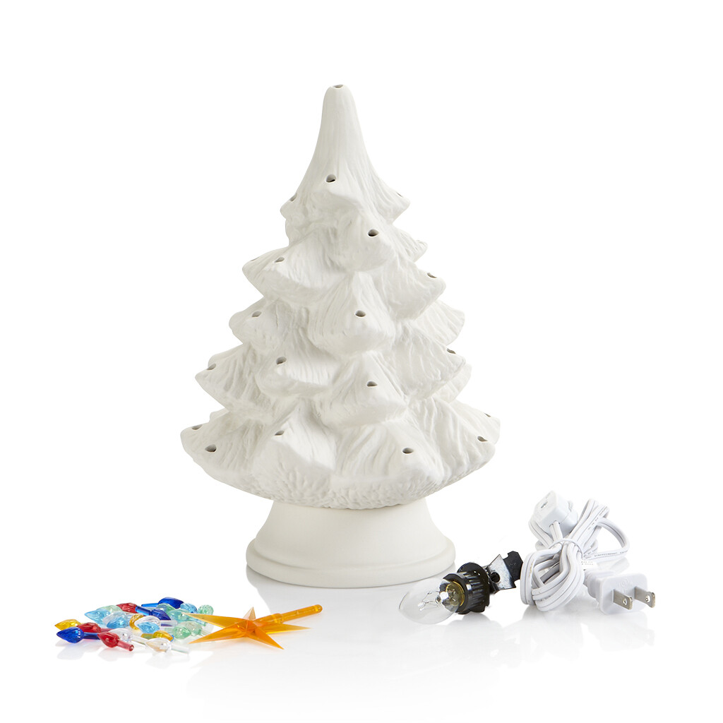Ceramic Christmas Tree Kit Small 9-1/2""
