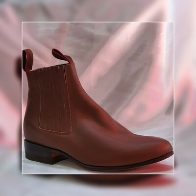 Booty Villa del Carbón Classic sole Leather Leather color: Burnt Honey