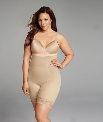 Maidenform Firm Foundations Curvy Plus Size Firm Control High Waist Thigh Slimmer DM1024