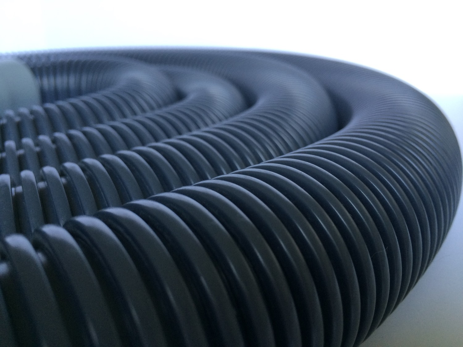 "Hose System | 1.5"" Black Commercial Hose with Connectors - 50' Length"