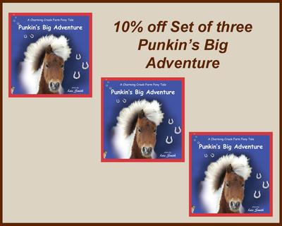 Set of three - Punkin's Big Adventure