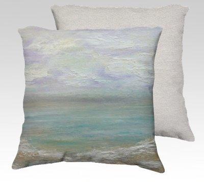 Beach Day 1 Velvet Pillow (small)
