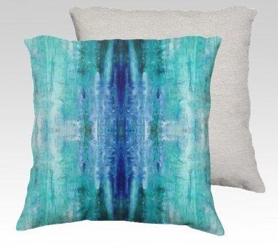 Aqua Ice Velvet Pillow (large)