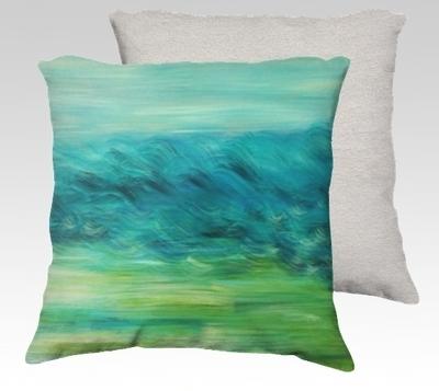 Moving Landscape Velvet Pillow (small)