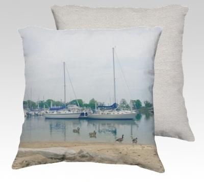 Compo Boats Velvet Pillow (large)