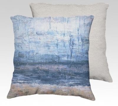 Cool Beach Velvet Pillow (large)