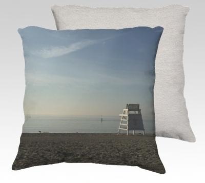 Compo Beach Silence Velvet Pillow (large)