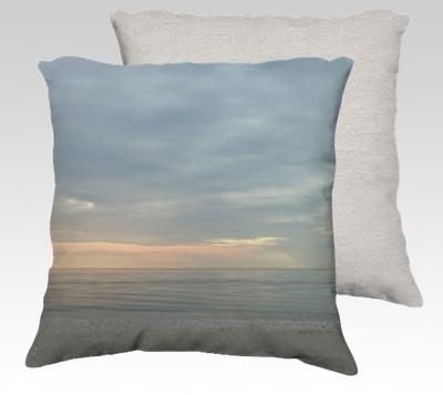 Compo Beach Sunrise Velvet Pillow (small)